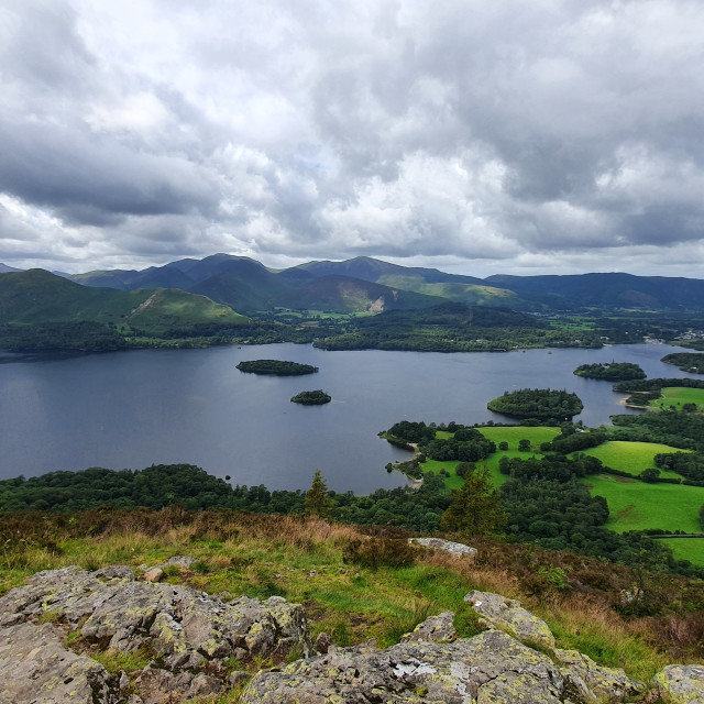 """""""Derwent Water from Walla Crag"""" stock image"""