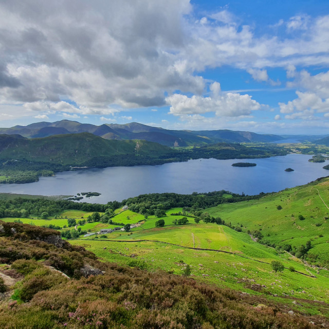 """""""Derwent Water from Ashness Fell"""" stock image"""