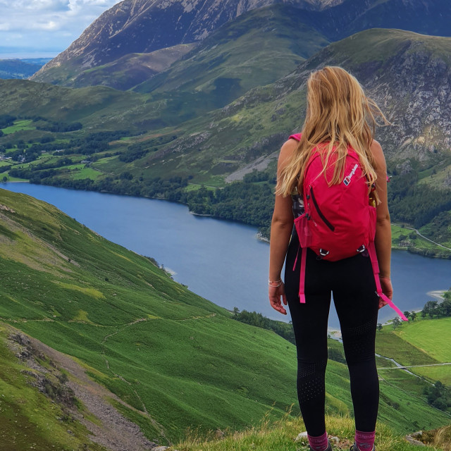 """""""Buttermere from Buttermere Fell"""" stock image"""