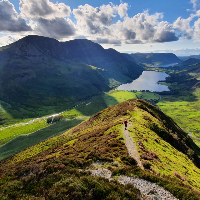 """""""The View from Fleetwith Pike"""" stock image"""