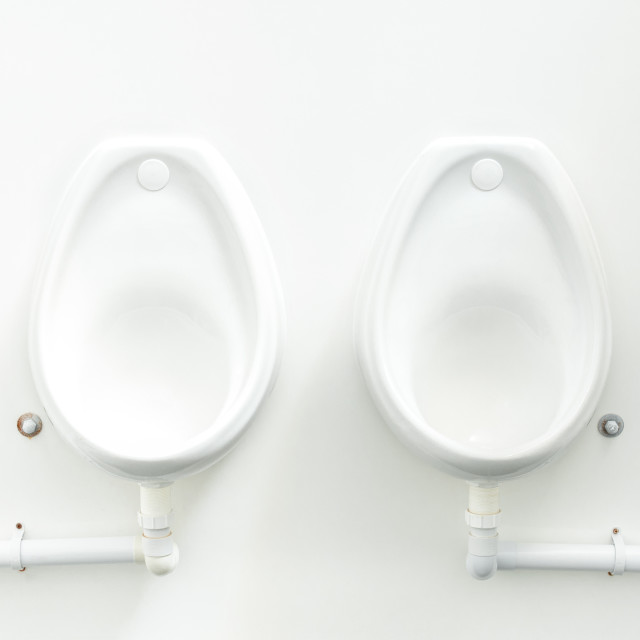 """public urinals"" stock image"