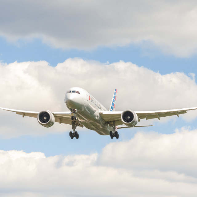 """American Airlines Boeing 787 Dreamliner"" stock image"