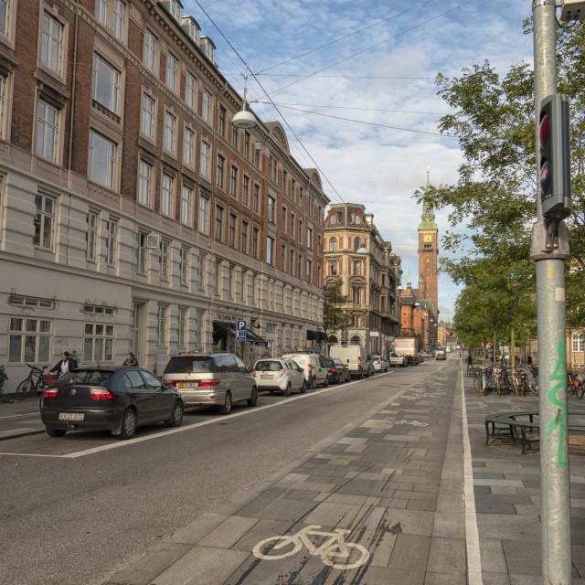 """""""Street scene in Copenhagen, Denmark"""" stock image"""