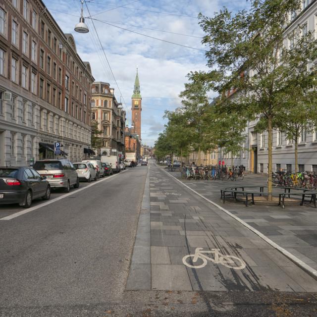 """Street scene Vester Voldgade Copenhagen, Denmark"" stock image"