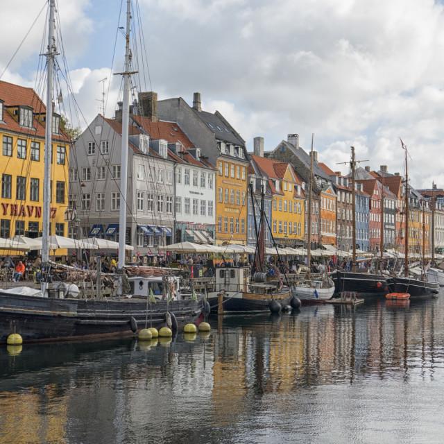 """""""The Nyhavn Canal in Copenhagen"""" stock image"""
