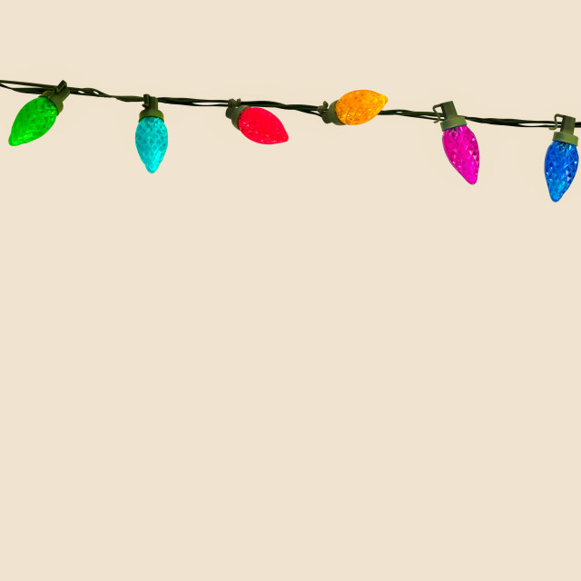 """String Of Christmas Or Party Lights"" stock image"