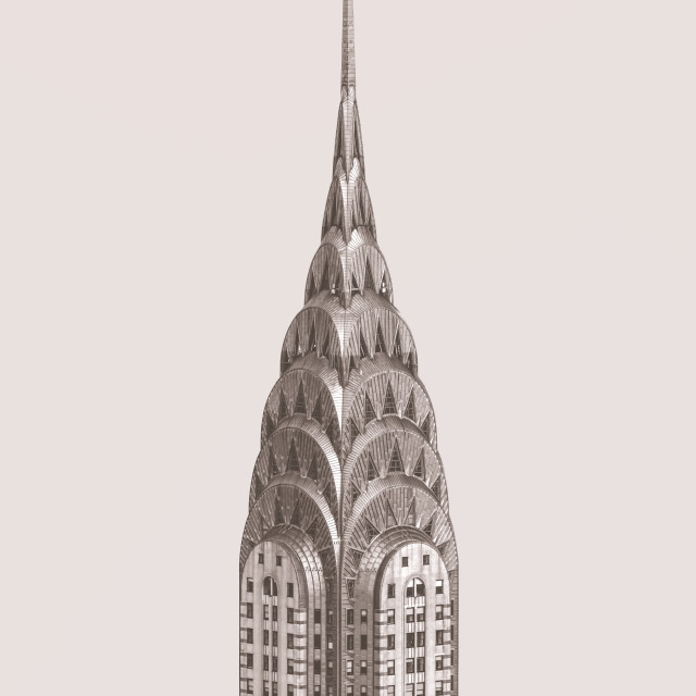 """The Chrysler Building In New York"" stock image"