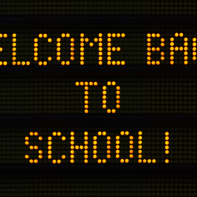 """Welcome Back To School Sign"" stock image"