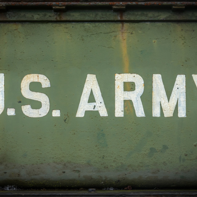 """Vintage Sign For The US Army"" stock image"