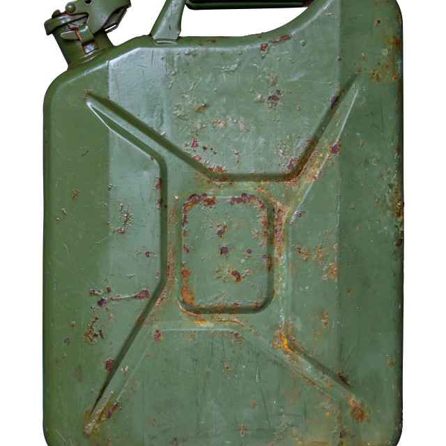 """Isolated Grungy Jerry Can"" stock image"