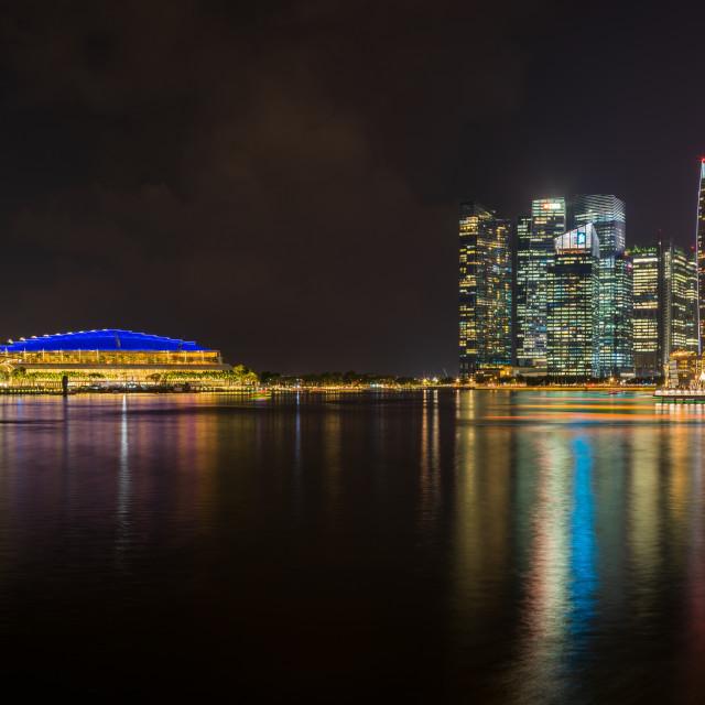 """""""View at Singapore City Skyline"""" stock image"""