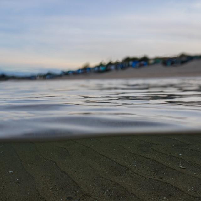 """Calming day on Abersoch beach, Llŷn Peninsula"" stock image"