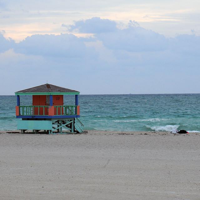 """South Beach, Miami Beach"" stock image"