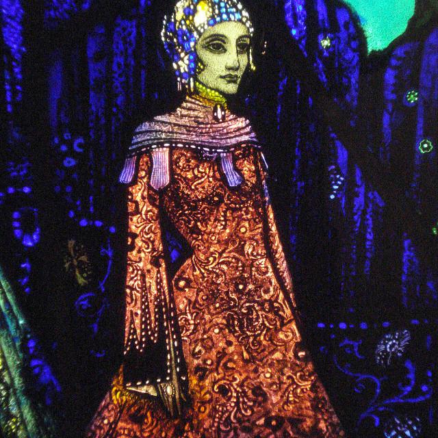 """The Geneva Window, stained glass artist Harry Clarke"" stock image"