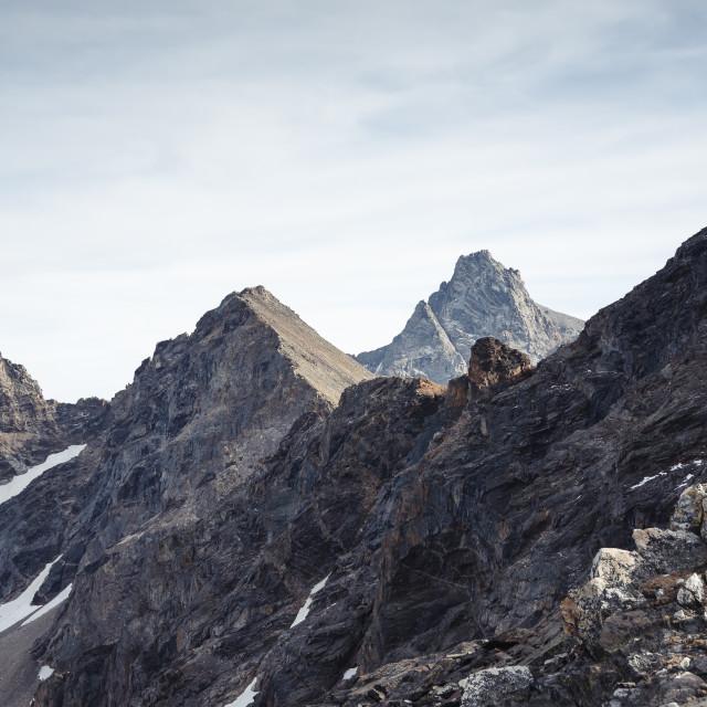 """""""Teton Peaks"""" stock image"""