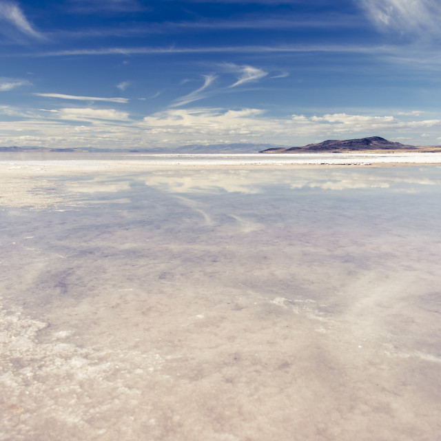 """Salt Flat Reflection"" stock image"