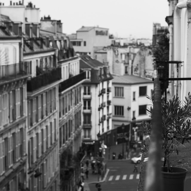 """The Streets of Paris in Black & White"" stock image"
