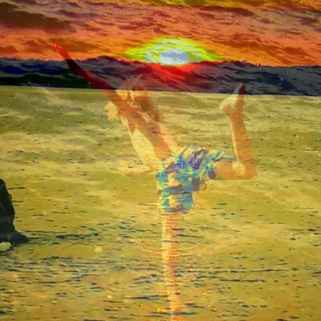 """Sunset splash"" stock image"