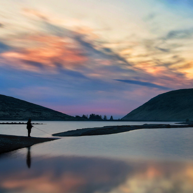 """""""Sunset in the Mourne Mountains"""" stock image"""