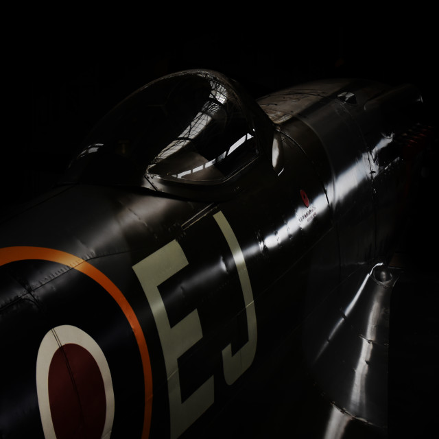 """Supermarine Spitfire Mk XIV MV268"" stock image"
