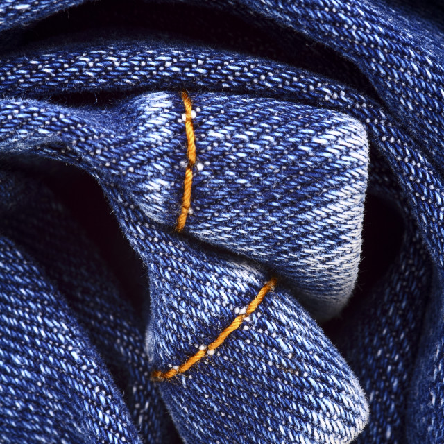 """""""Background of blue indigo denim jeans"""" stock image"""