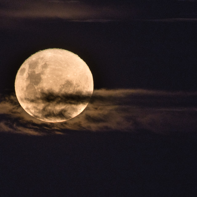"""Cloudy Full Moon"" stock image"