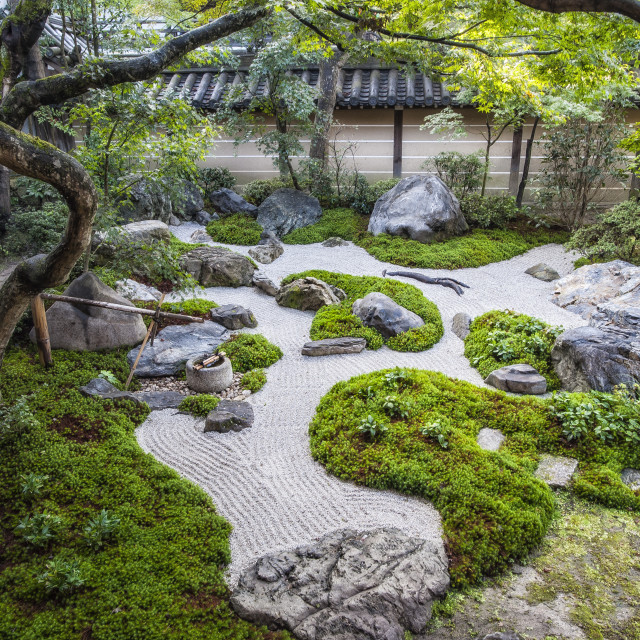 """""""Zen Garden"""" stock image"""