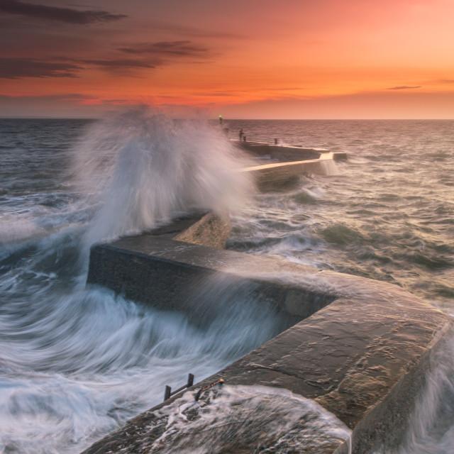 """Stormy Winter Sunset"" stock image"
