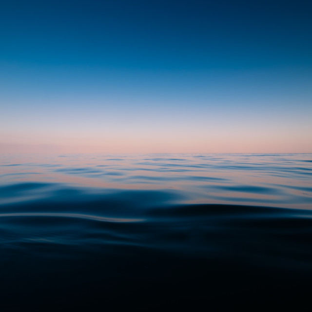 """Tranquility on the sea"" stock image"