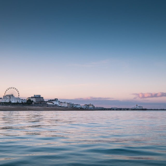 """Eastbourne twilight."" stock image"