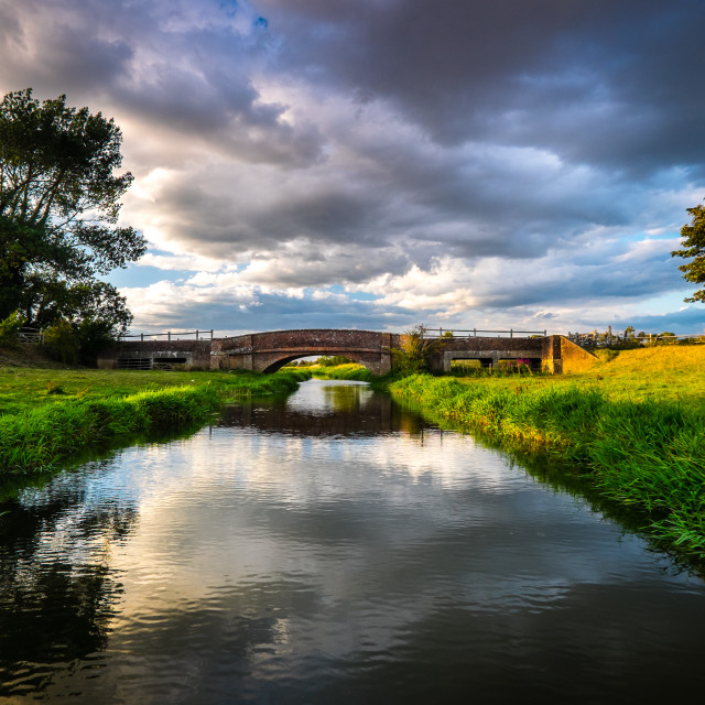 """Alfriston Bridge"" stock image"