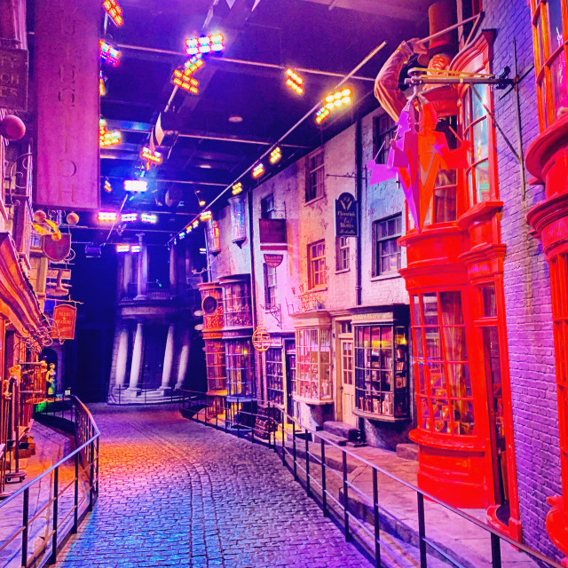 """""""Colours of Diagon Alley"""" stock image"""
