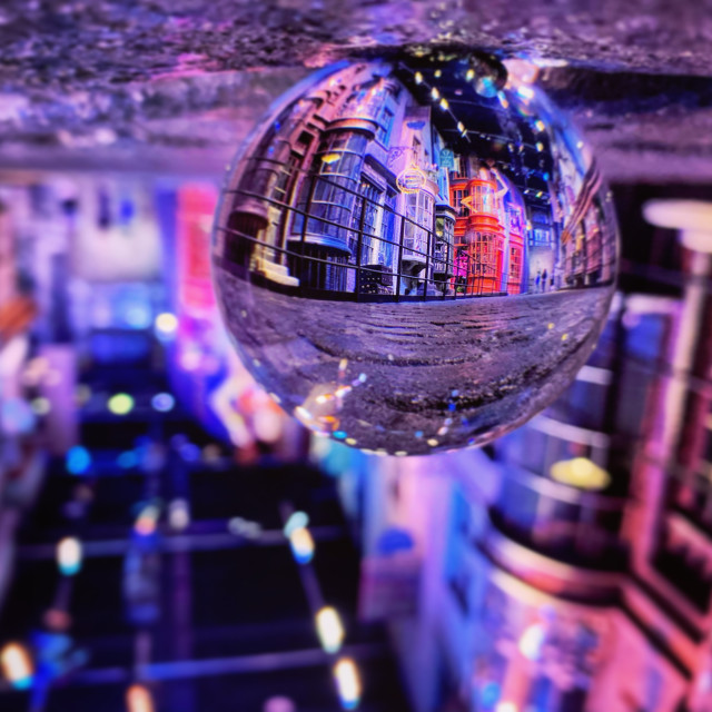 """""""Upside Down Diagon Alley"""" stock image"""