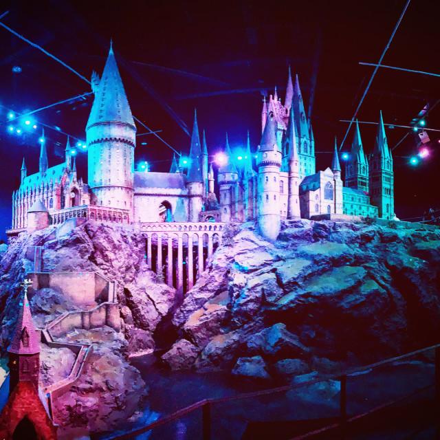 """""""Hogwarts Scale Model"""" stock image"""