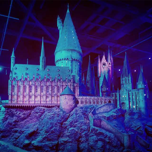 """""""Hogwarts Side View"""" stock image"""