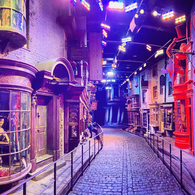 """""""Deserted Diagon Alley"""" stock image"""