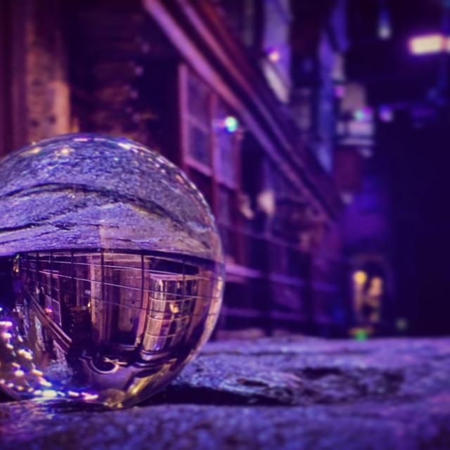 """Dark Diagon Lens Ball"" stock image"