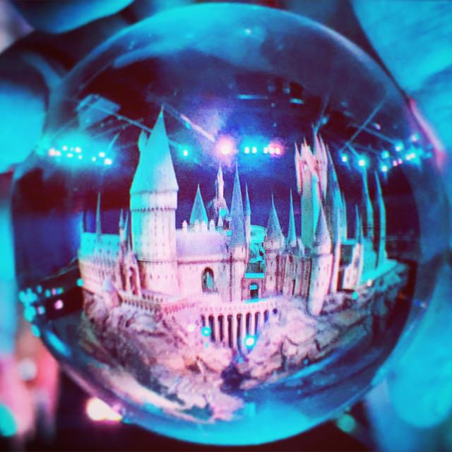 """""""Holding Hogwarts"""" stock image"""