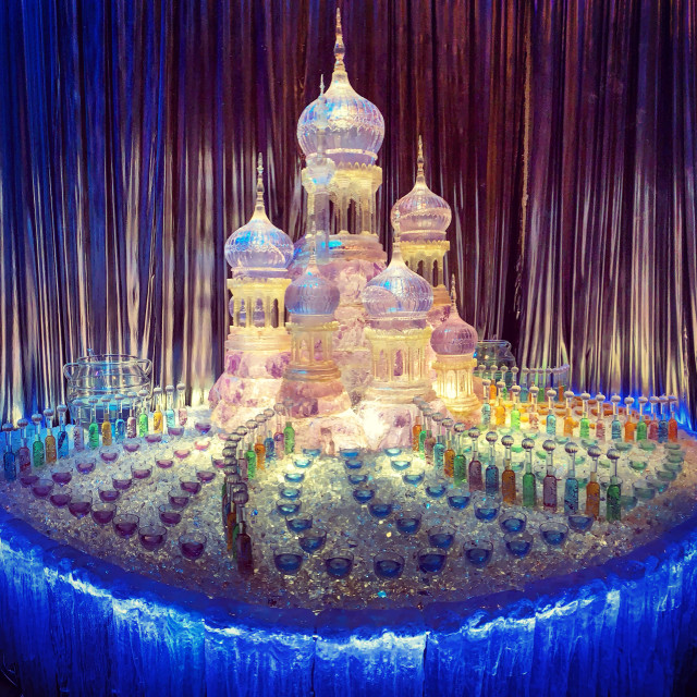 """""""Yule Ball Drinks Fountain"""" stock image"""