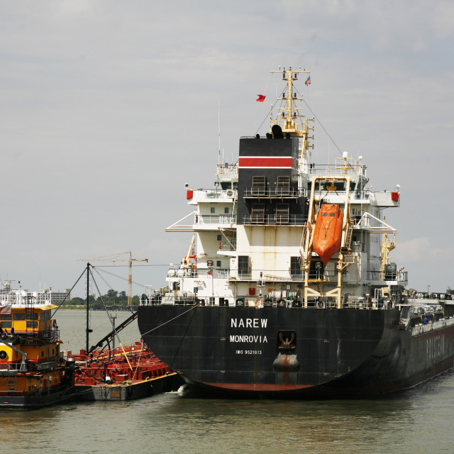 """""""Maritime Of Mississippi River"""" stock image"""