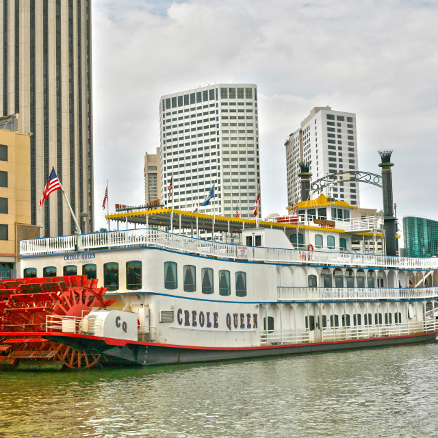 """""""Creole Queen Historic Cruise"""" stock image"""