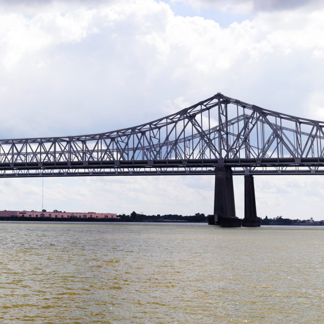 """Greater New Orleans Bridge"" stock image"