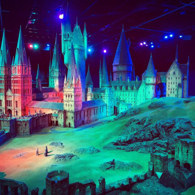 """""""Multi Coloured Hogwarts"""" stock image"""
