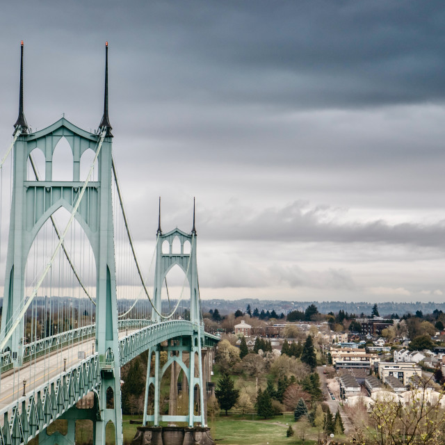"""Saint John's Bridge"" stock image"