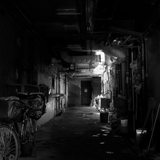 """Mystery of the Alleys"" stock image"