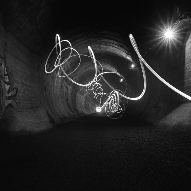 """""""Playing Light (Tunnel)"""" stock image"""