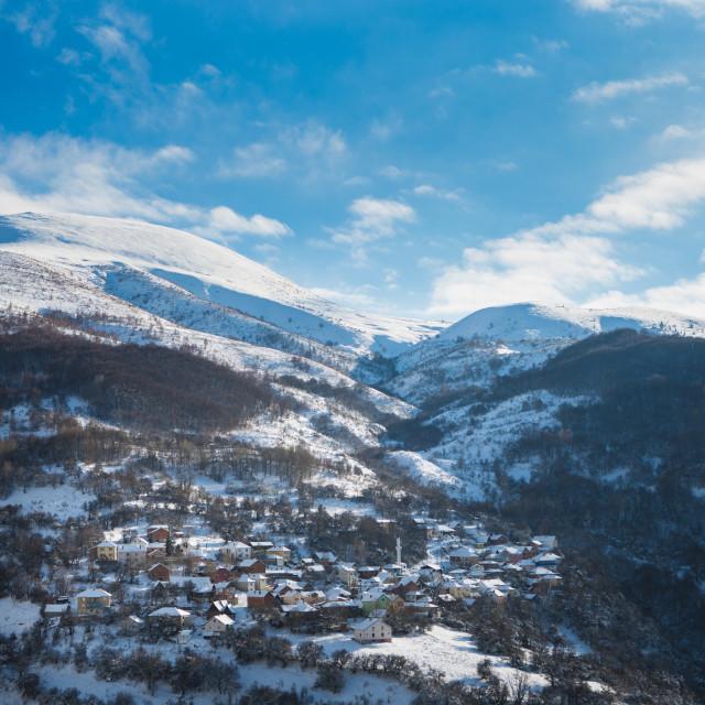 """""""Kosovo Mountain Village"""" stock image"""