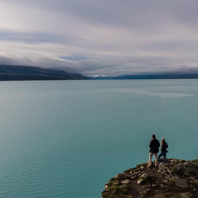 """Lake Pukaki"" stock image"