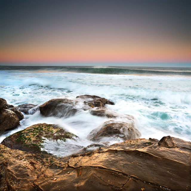 """""""Walkers Beach Swell"""" stock image"""