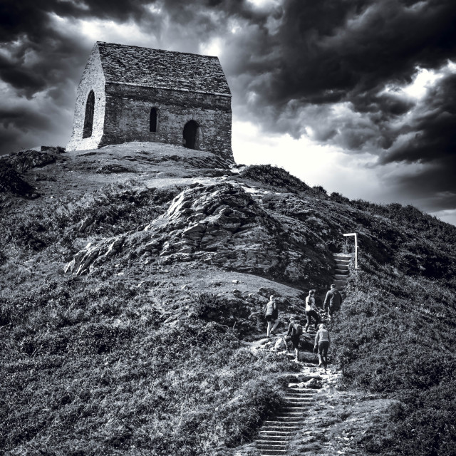 """""""St Michael's Chapel, Mount Edgcumbe House, Cremyll, Torpoint."""" stock image"""